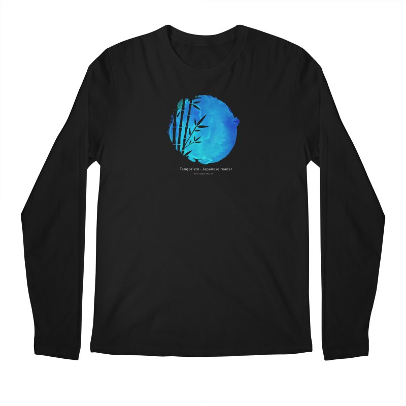 Tangoristo - Japanese Reader app logo with text - Night Mode Men's Regular Longsleeve T-Shirt by Tangoristo - Japanese Reading app shop