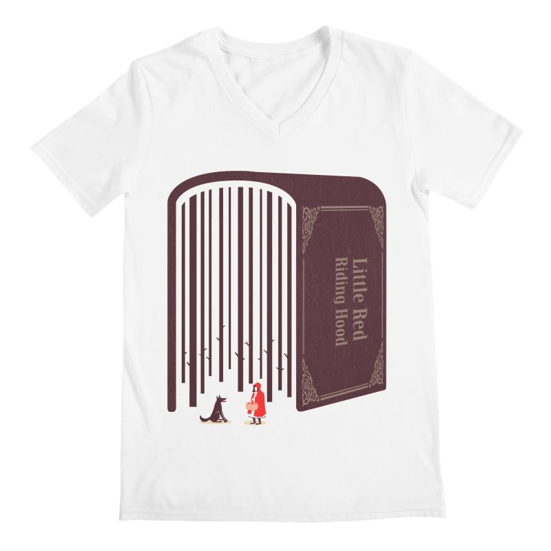 Little Red Riding Hood Men's V-Neck by tangyauhoong's Artist Shop