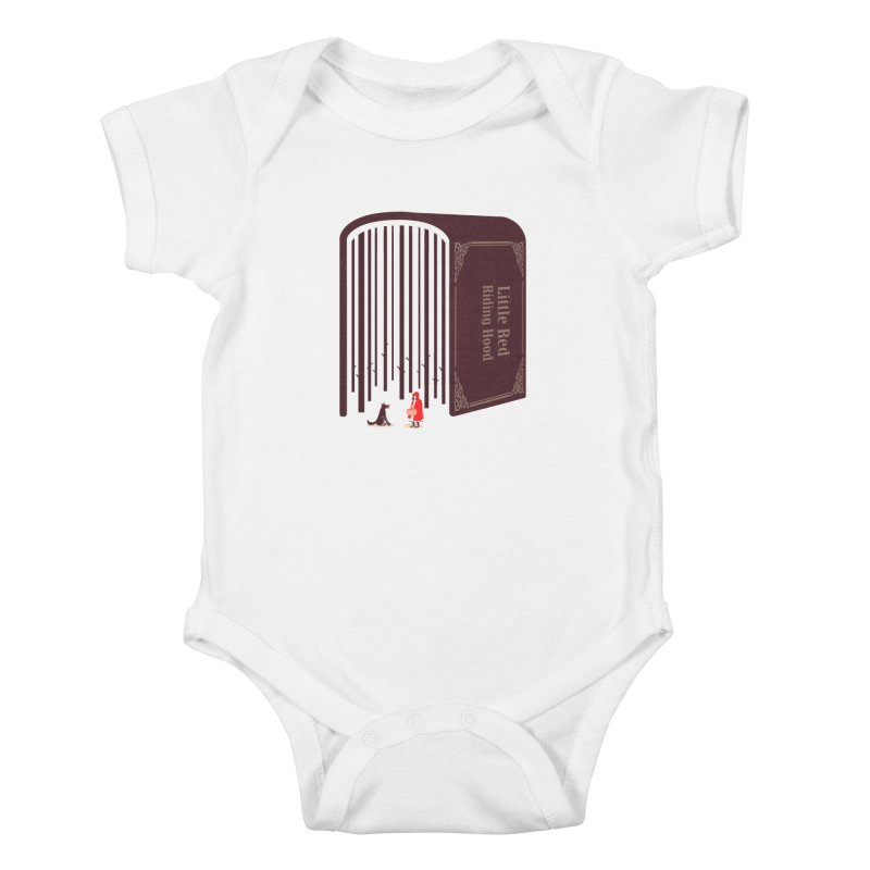 Little Red Riding Hood Kids Baby Bodysuit by tangyauhoong's Artist Shop