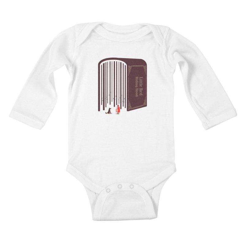 Little Red Riding Hood Kids Baby Longsleeve Bodysuit by tangyauhoong's Artist Shop