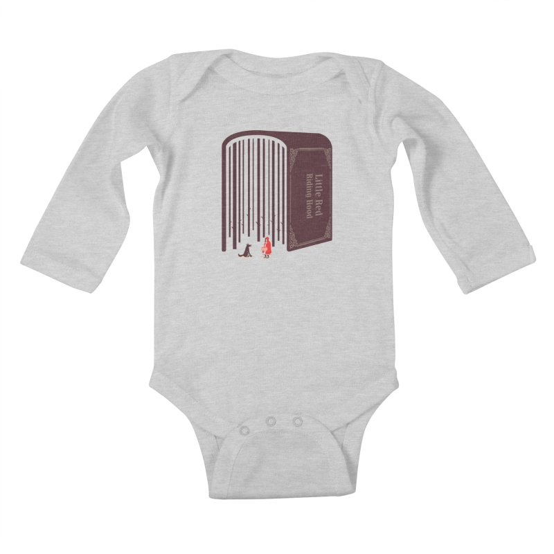 Little Red Riding Hood Kids Baby Longsleeve Bodysuit by tangyauhoong's Artist Shop