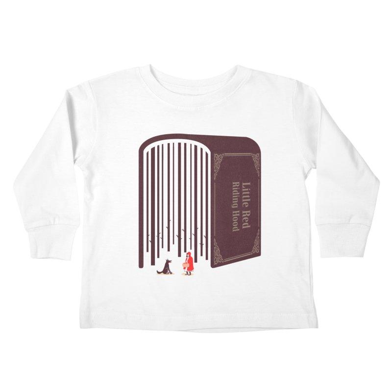 Little Red Riding Hood Kids Toddler Longsleeve T-Shirt by tangyauhoong's Artist Shop