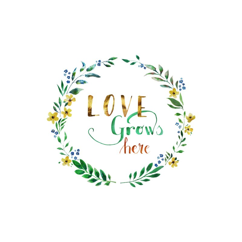 Love Grows Here Kids Longsleeve T-Shirt by tanjica's Artist Shop