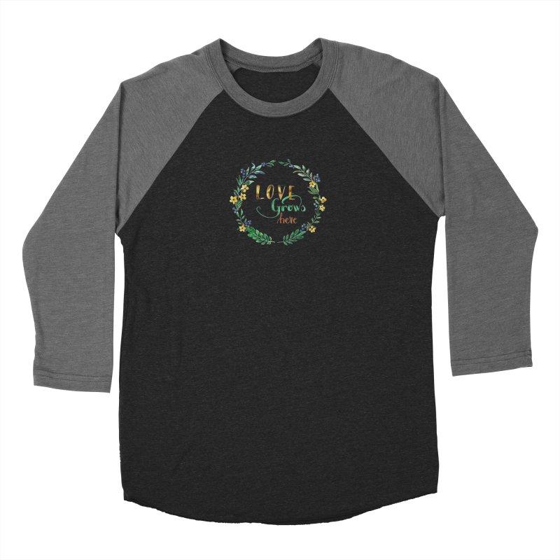 Love Grows Here Men's Baseball Triblend Longsleeve T-Shirt by tanjica's Artist Shop