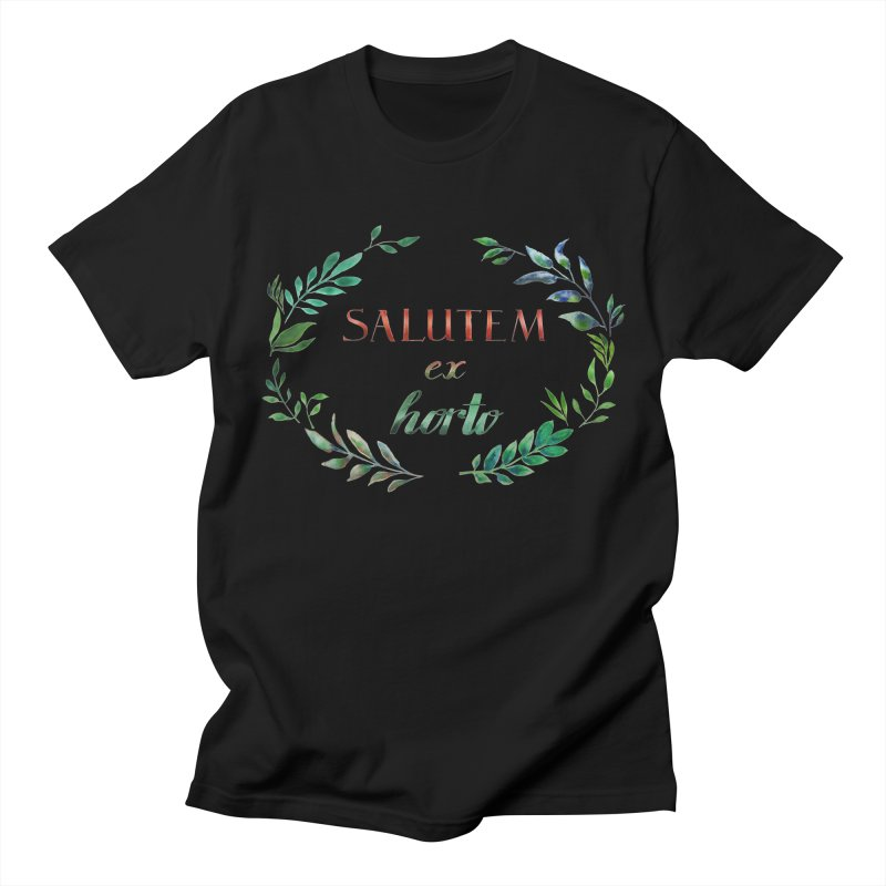Greetings from the Garden! Men's T-Shirt by tanjica's Artist Shop