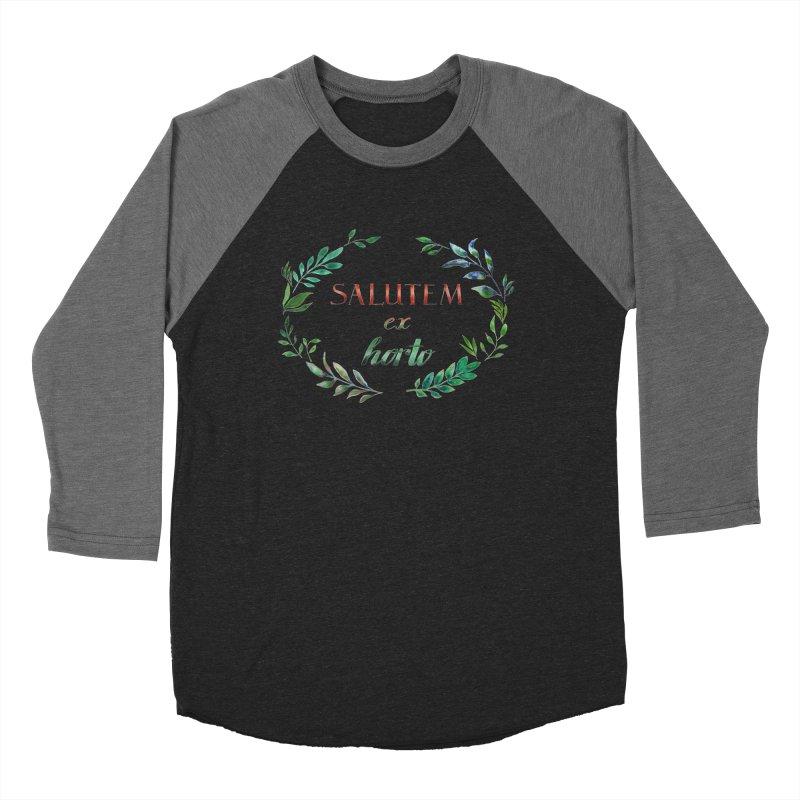 Greetings from the Garden! Men's Baseball Triblend Longsleeve T-Shirt by tanjica's Artist Shop