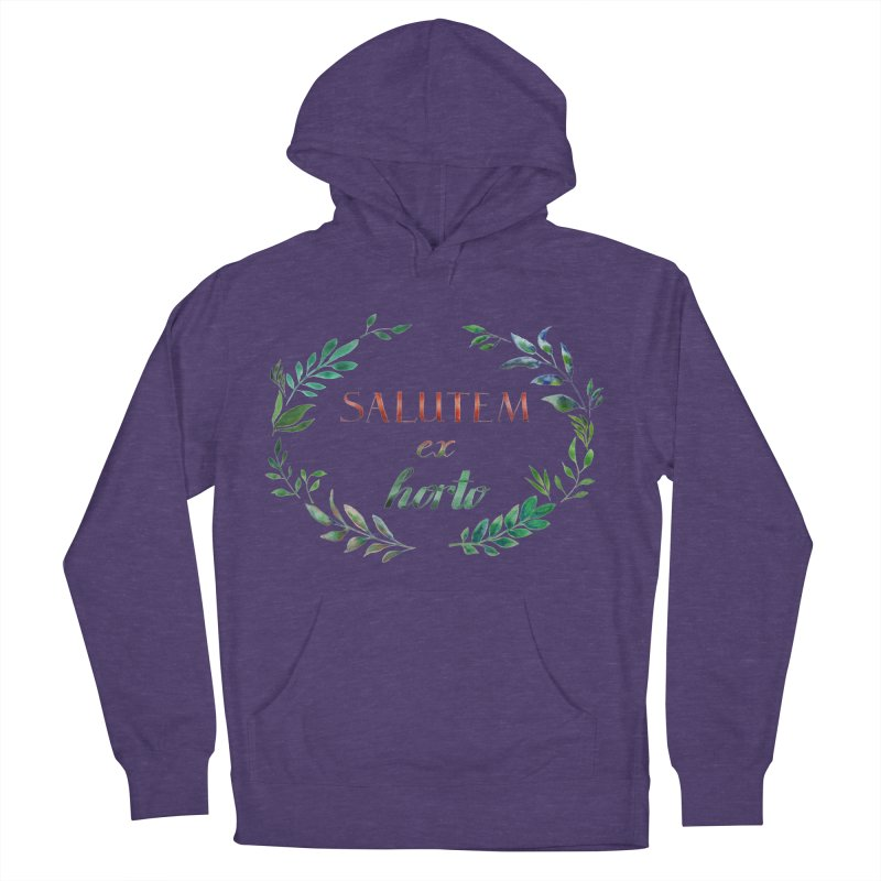 Greetings from the Garden! Men's French Terry Pullover Hoody by tanjica's Artist Shop