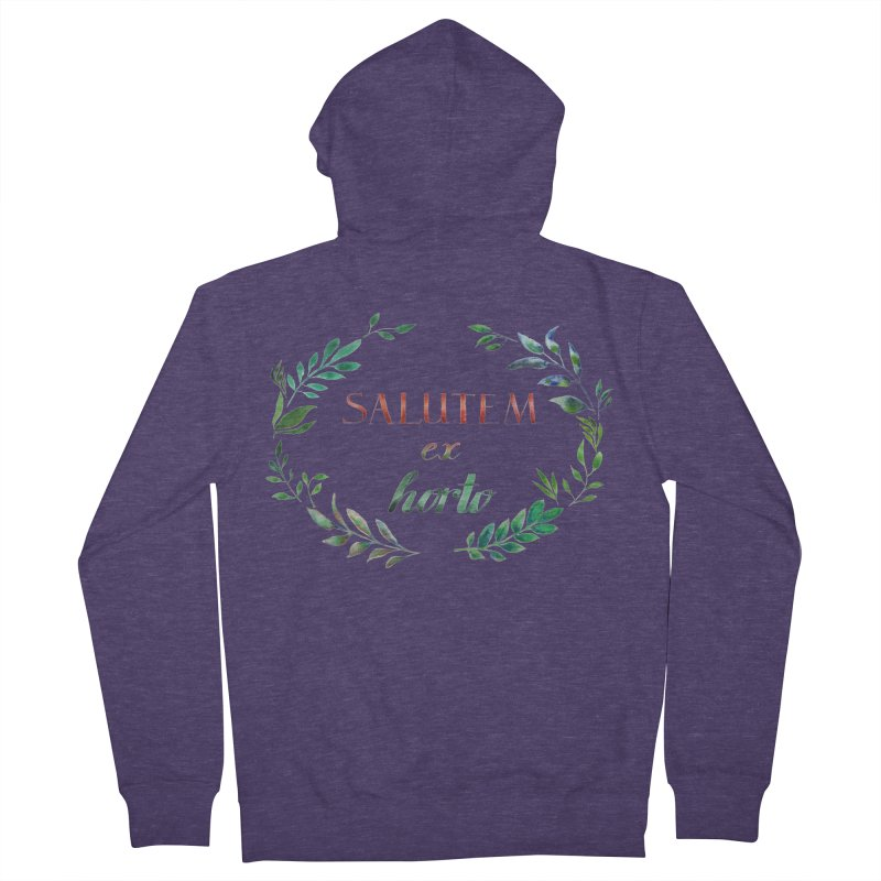 Greetings from the Garden! Men's Zip-Up Hoody by tanjica's Artist Shop