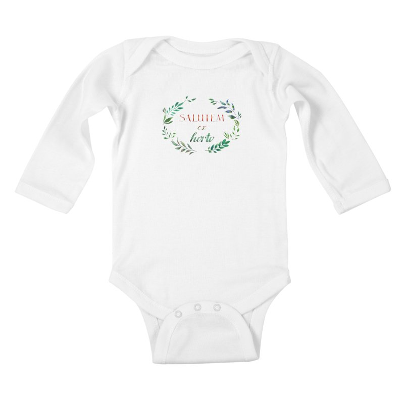 Greetings from the Garden! Kids Baby Longsleeve Bodysuit by tanjica's Artist Shop