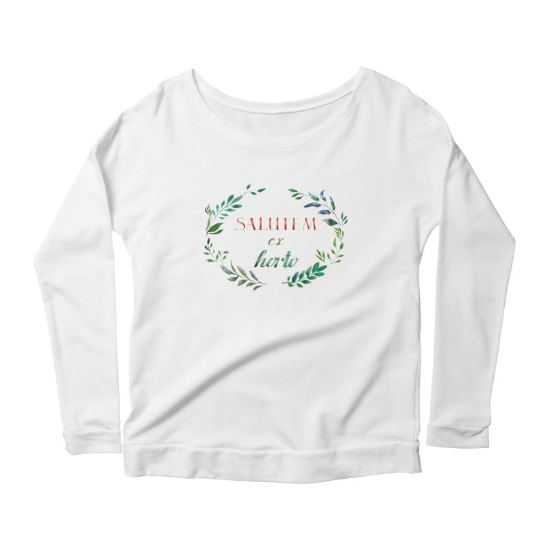 Greetings from the Garden! Women's Scoop Neck Longsleeve T-Shirt by tanjica's Artist Shop