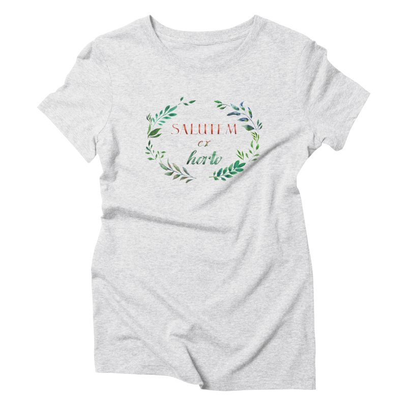 Greetings from the Garden! Women's Triblend T-Shirt by tanjica's Artist Shop