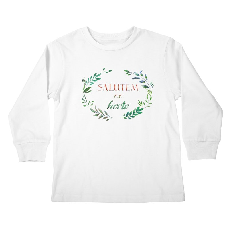 Greetings from the Garden! Kids Longsleeve T-Shirt by tanjica's Artist Shop
