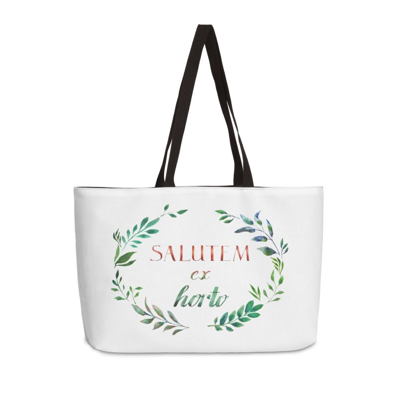 Greetings from the Garden! Accessories Weekender Bag Bag by tanjica's Artist Shop