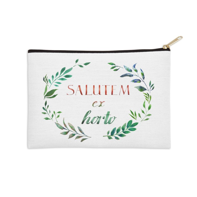 Greetings from the Garden! Accessories Zip Pouch by tanjica's Artist Shop