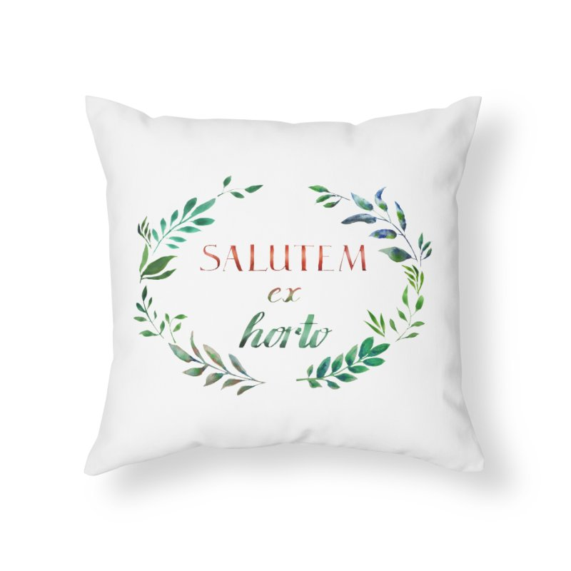 Greetings from the Garden! Home Throw Pillow by tanjica's Artist Shop