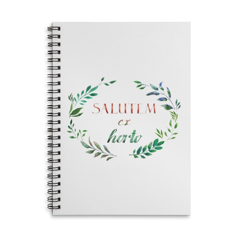 Greetings from the Garden! Accessories Lined Spiral Notebook by tanjica's Artist Shop