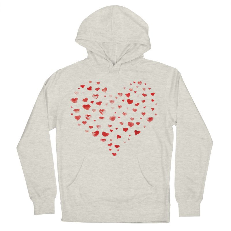 I Heart You Women's French Terry Pullover Hoody by tanjica's Artist Shop