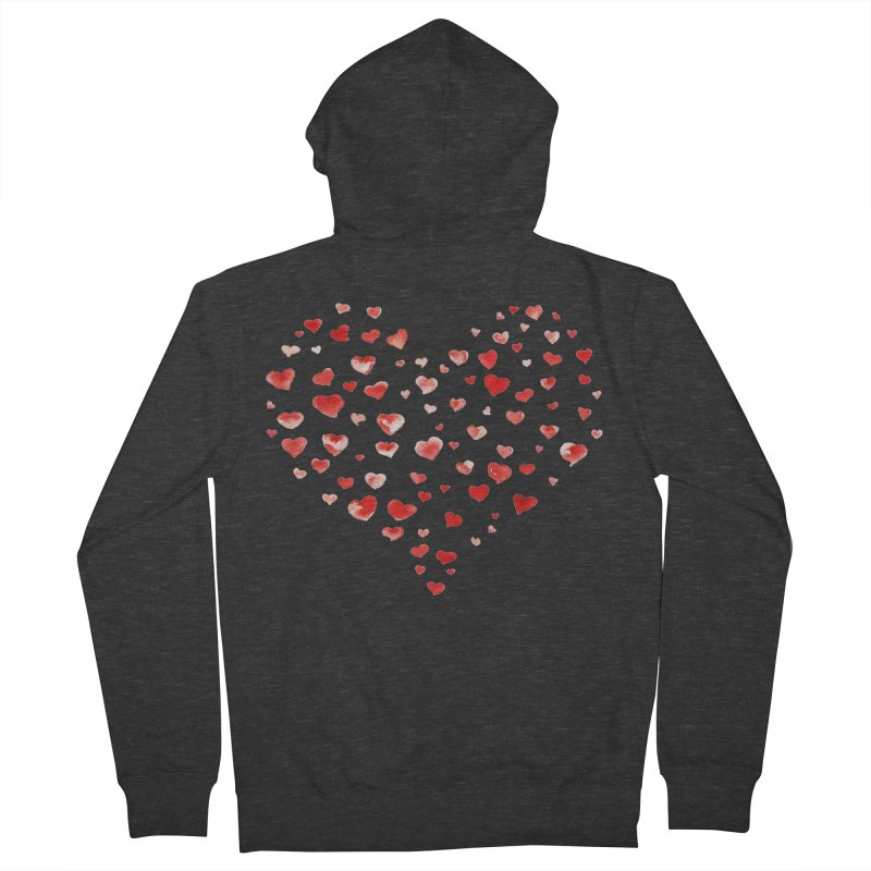 I Heart You Women's French Terry Zip-Up Hoody by tanjica's Artist Shop