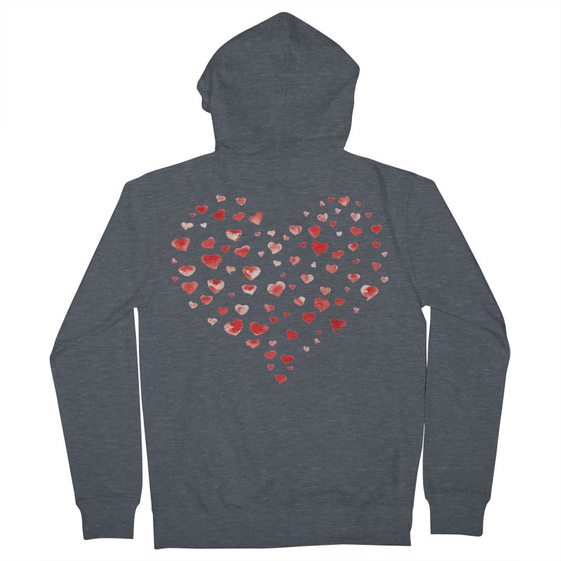 I Heart You Men's French Terry Zip-Up Hoody by tanjica's Artist Shop