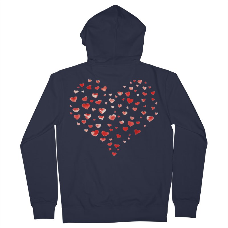 I Heart You Men's Zip-Up Hoody by tanjica's Artist Shop
