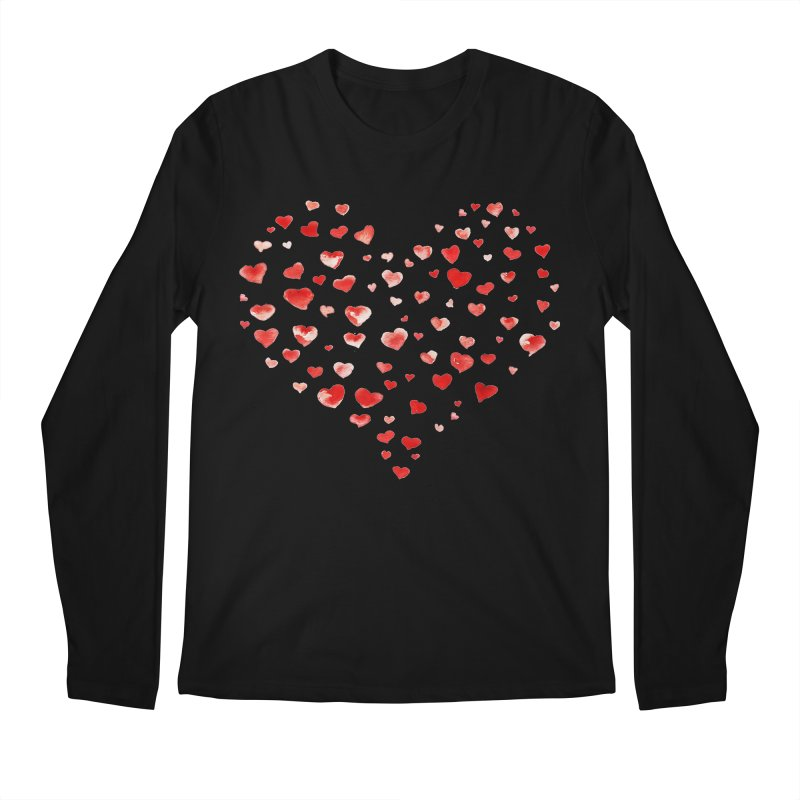 I Heart You Men's Regular Longsleeve T-Shirt by tanjica's Artist Shop