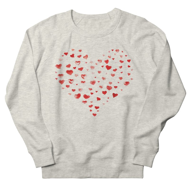 I Heart You Men's French Terry Sweatshirt by tanjica's Artist Shop