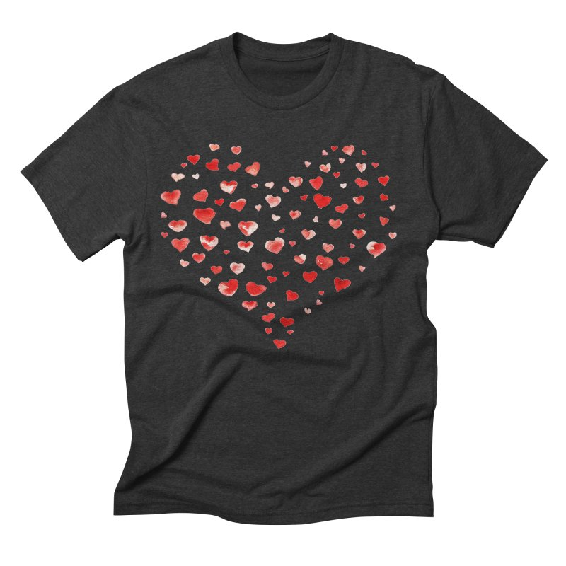 I Heart You Men's Triblend T-Shirt by tanjica's Artist Shop