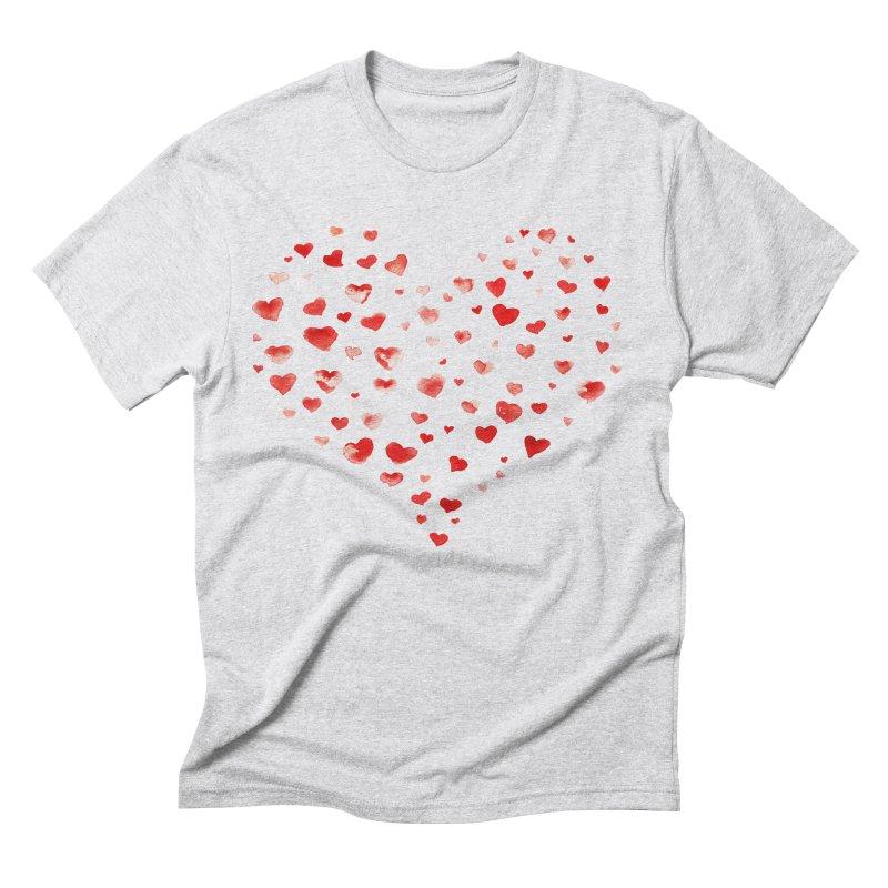 I Heart You Men's Triblend T-Shirt by tanjica's Artist Shop
