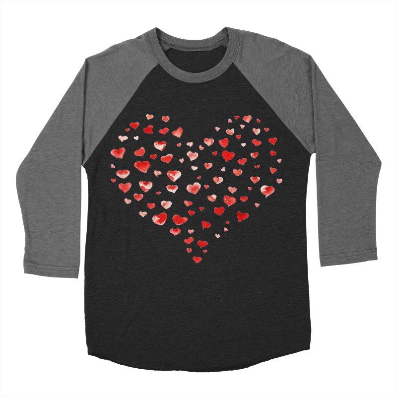 I Heart You Women's Baseball Triblend T-Shirt by tanjica's Artist Shop