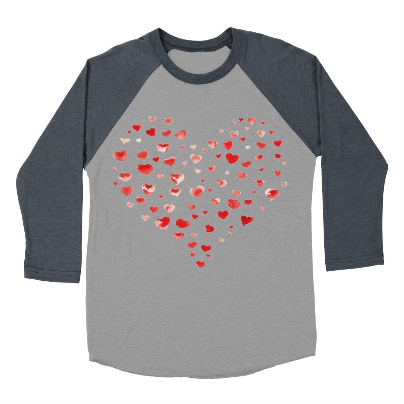 I Heart You Men's Baseball Triblend Longsleeve T-Shirt by tanjica's Artist Shop