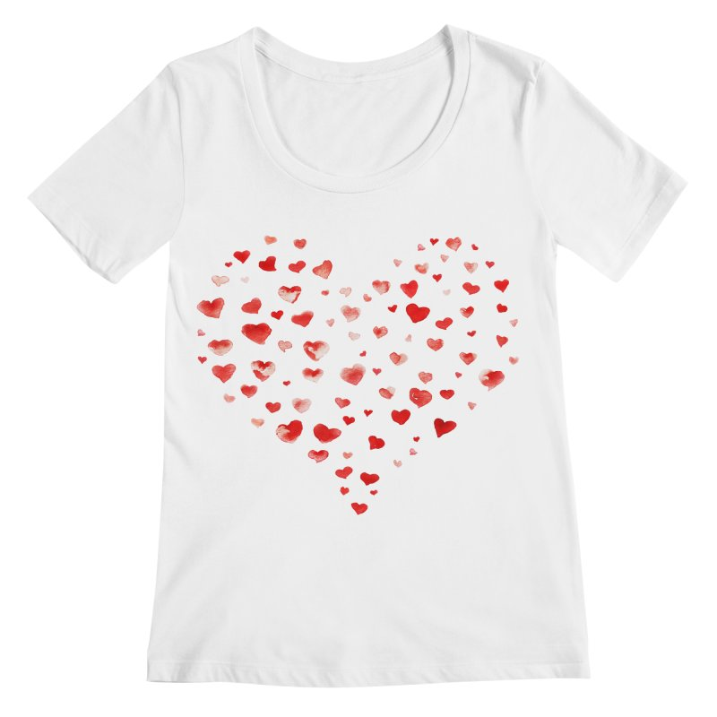 I Heart You Women's Scoopneck by tanjica's Artist Shop