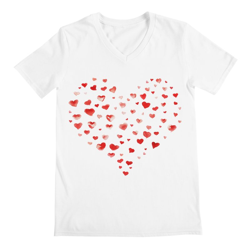 I Heart You Men's Regular V-Neck by tanjica's Artist Shop