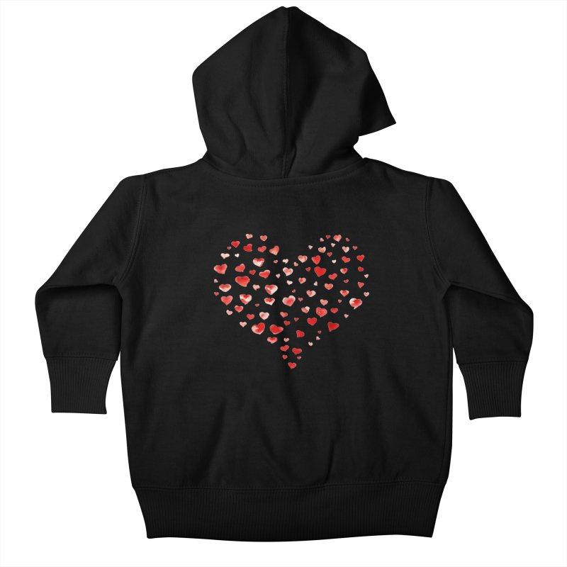 I Heart You Kids Baby Zip-Up Hoody by tanjica's Artist Shop