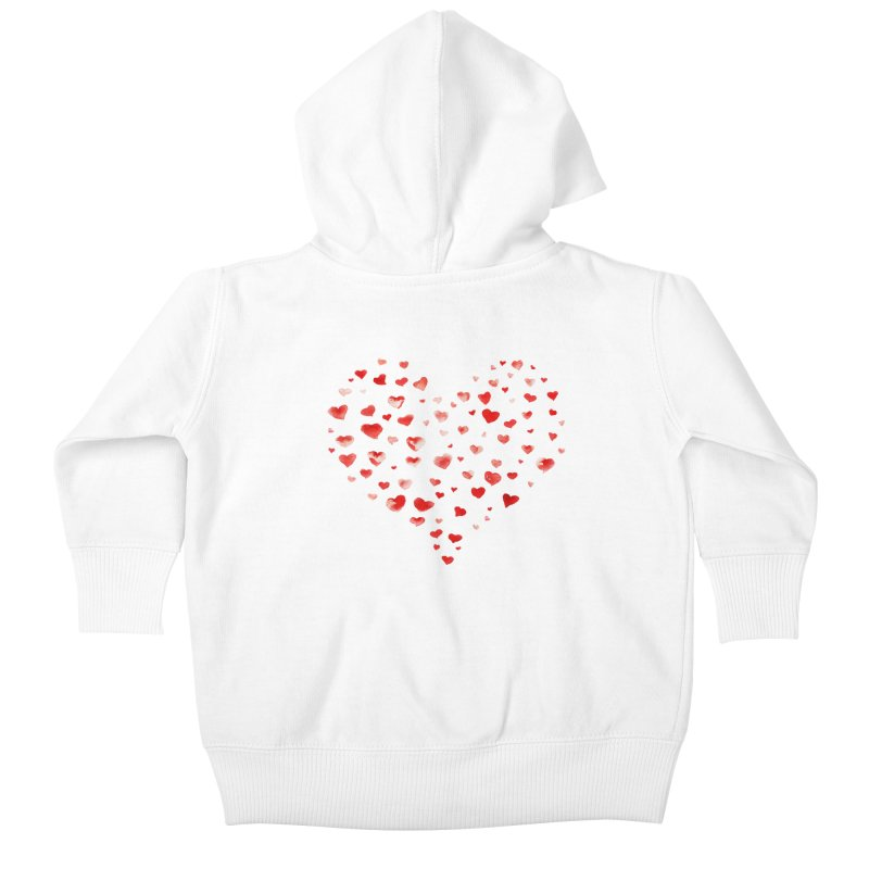 I Heart You Kids Baby Zip-Up Hoody by tanjica's Artist Shop