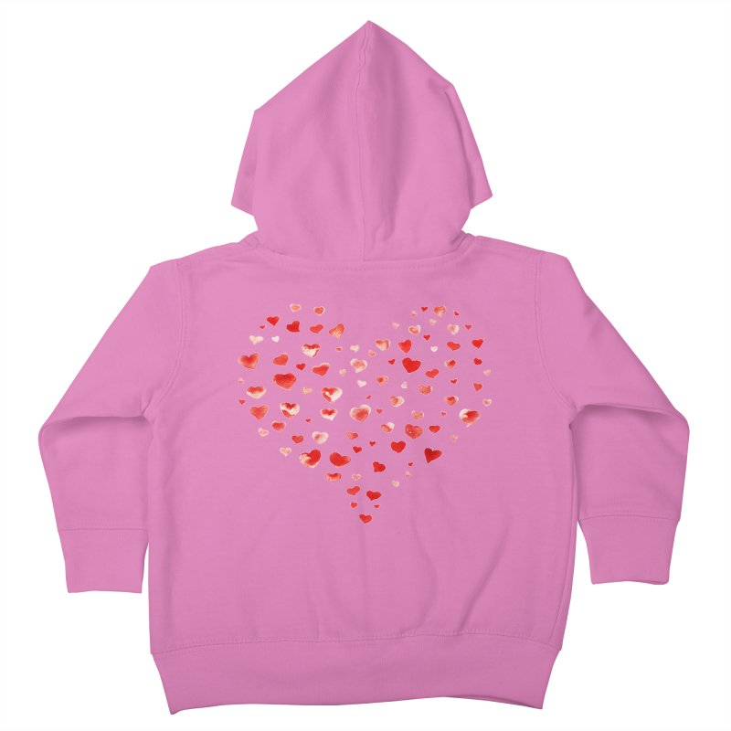 I Heart You Kids Toddler Zip-Up Hoody by tanjica's Artist Shop