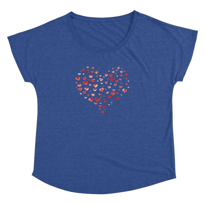 I Heart You Women's Dolman Scoop Neck by tanjica's Artist Shop