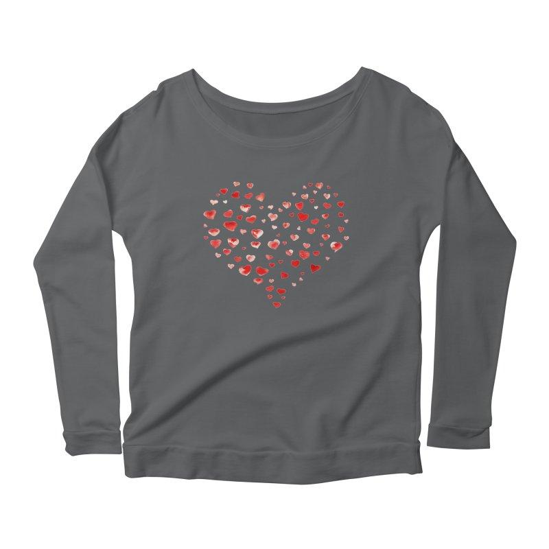 I Heart You Women's Longsleeve Scoopneck  by tanjica's Artist Shop