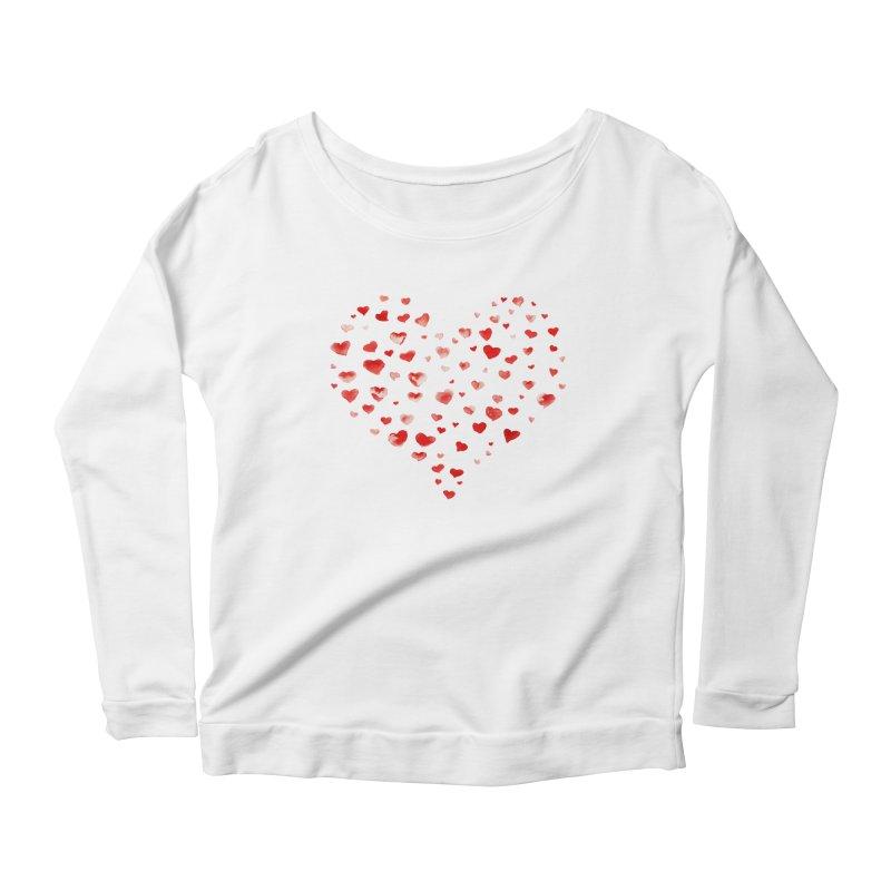 I Heart You Women's Scoop Neck Longsleeve T-Shirt by tanjica's Artist Shop