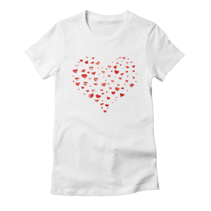 I Heart You Women's Fitted T-Shirt by tanjica's Artist Shop