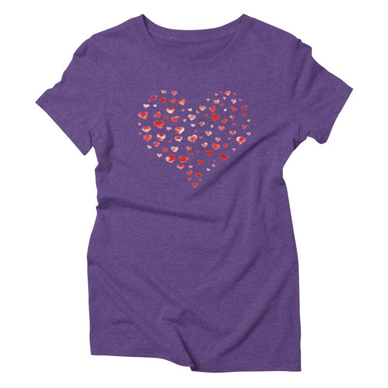 I Heart You Women's Triblend T-shirt by tanjica's Artist Shop