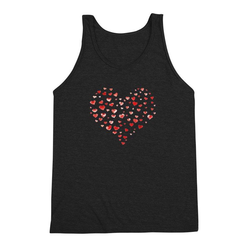 I Heart You Men's Triblend Tank by tanjica's Artist Shop