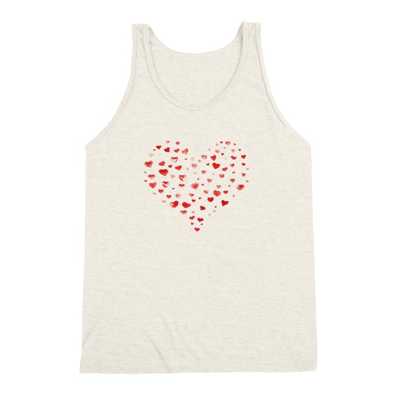 I Heart You Men's Triblend Tank by tanjica's Artist Shop