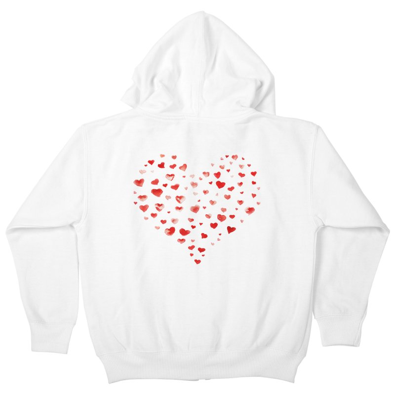 I Heart You Kids Zip-Up Hoody by tanjica's Artist Shop