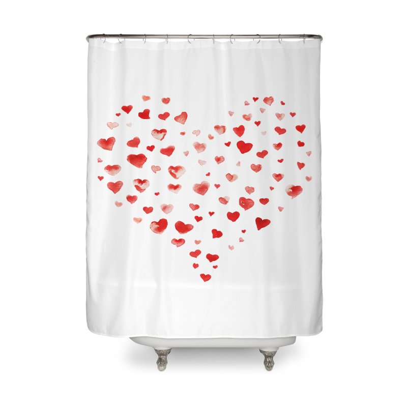 I Heart You Home Shower Curtain by tanjica's Artist Shop