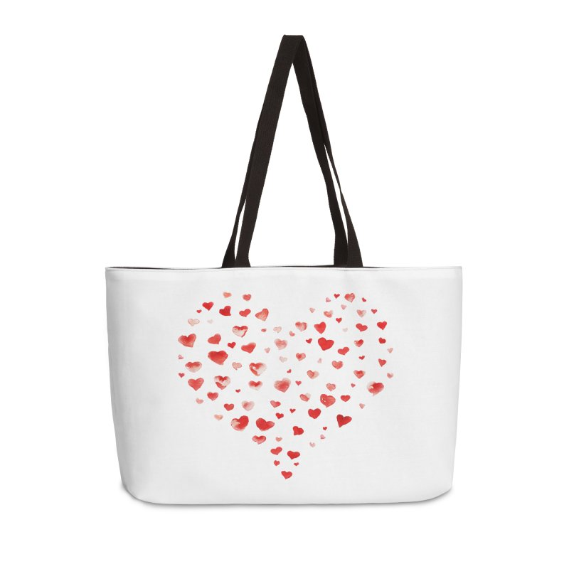 I Heart You Accessories Weekender Bag Bag by tanjica's Artist Shop