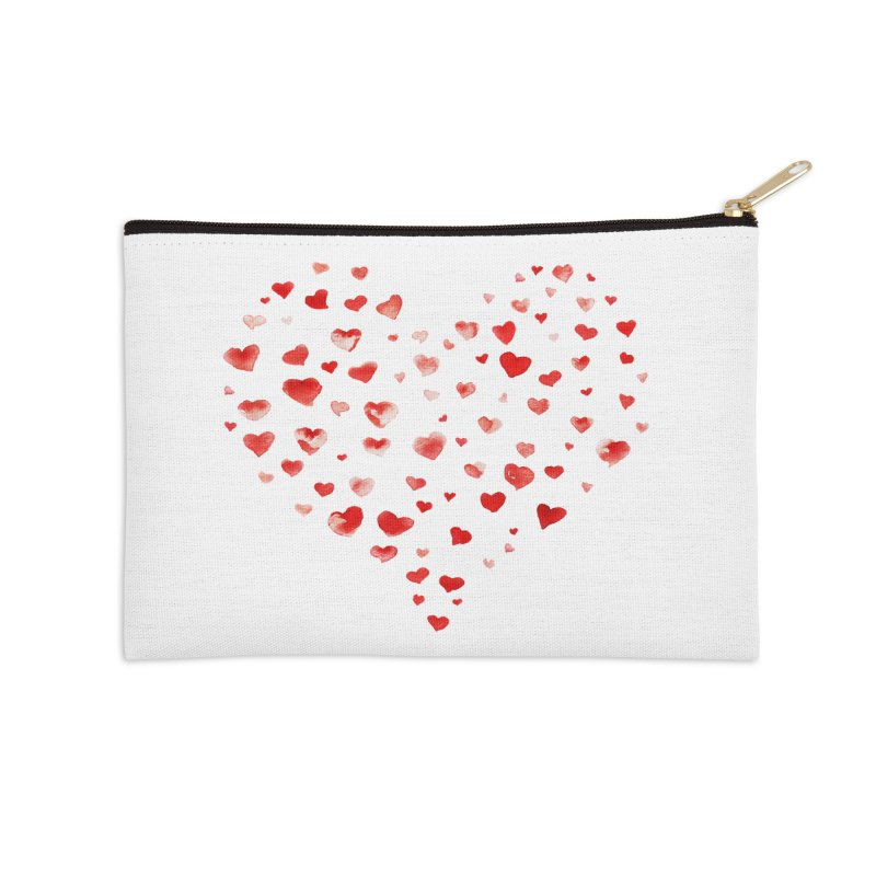 I Heart You Accessories Zip Pouch by tanjica's Artist Shop