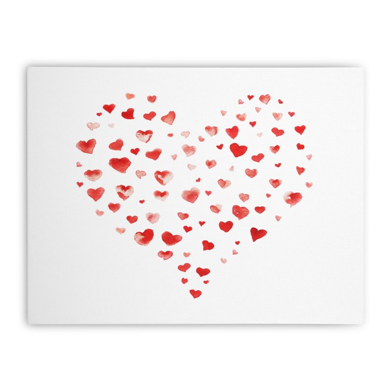 I Heart You Home Stretched Canvas by tanjica's Artist Shop