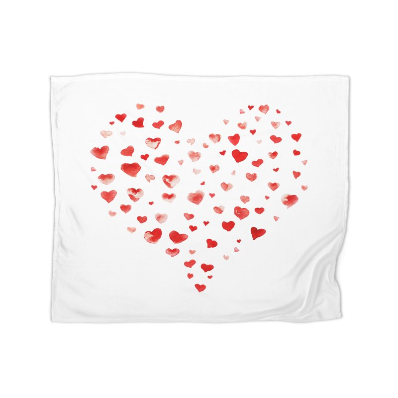 I Heart You Home Blanket by tanjica's Artist Shop