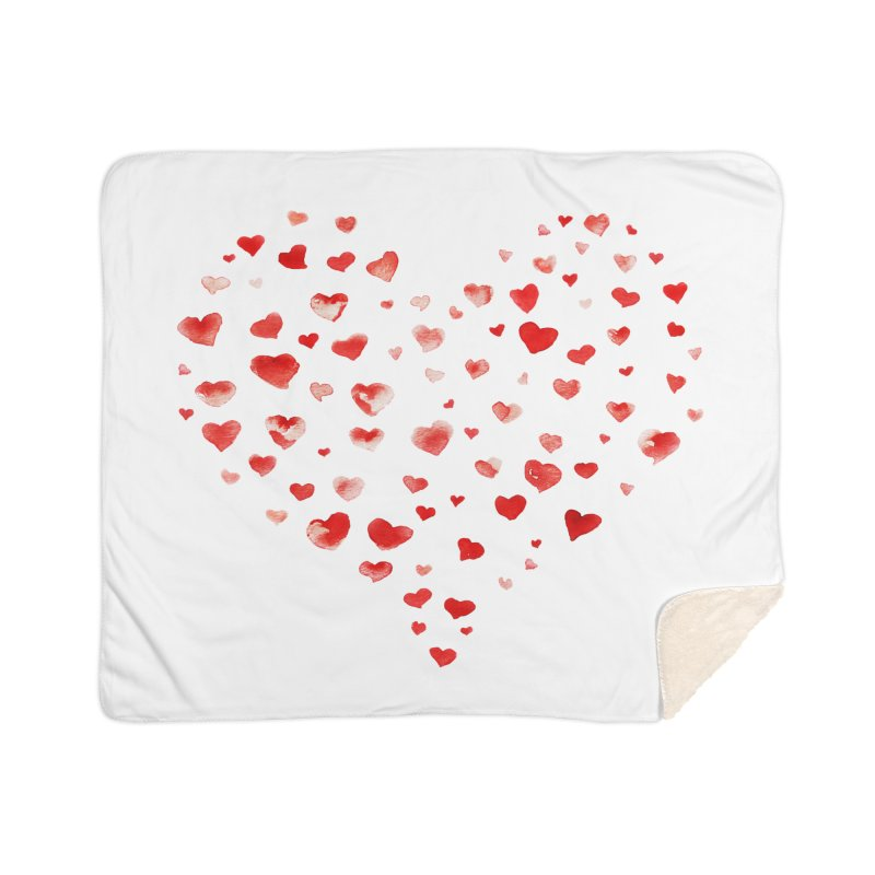 I Heart You Home Sherpa Blanket Blanket by tanjica's Artist Shop