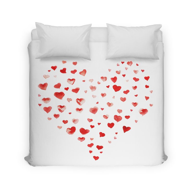 I Heart You Home Duvet by tanjica's Artist Shop